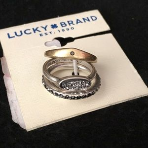 NWT Lucky Brand Size 7 Stackable Rings